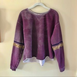 Free People • beaded sleeve pullover